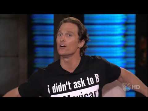 Matthew McConaughey on Lopez Tonight 23 March 2011 Full Inte