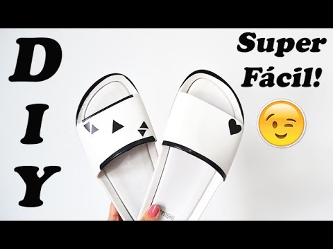 70c73da36053b8 DIY: Customização Melissa Beach Slide (Super Fácil)