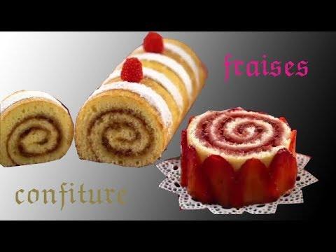 biscuits-roulé-confiture-et-fraises-c'est-magnifique-et-facile