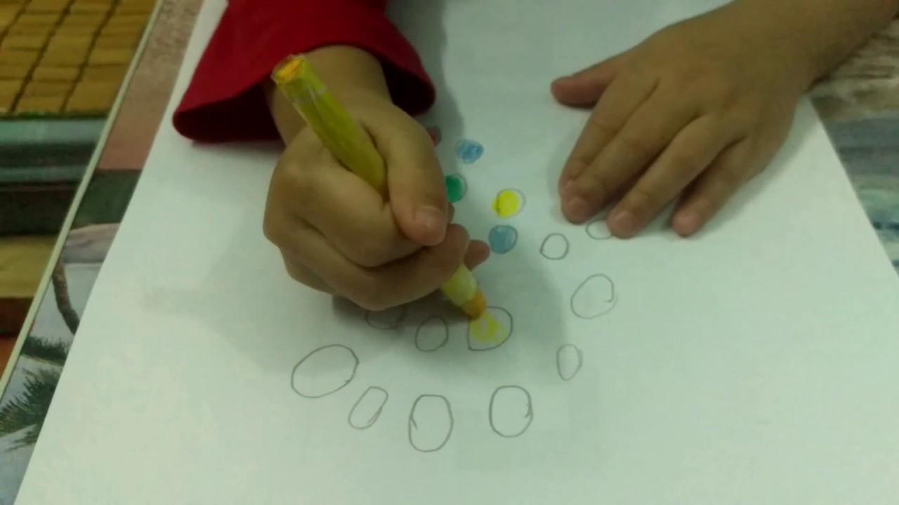Dạy bé Vẽ Hình Tròn Cách Tô màu và Trang Trí các hình vẽ