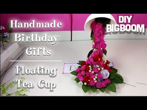 Diy handmade birthday gifts | How to make a floating tea cup | Diy BigBoom
