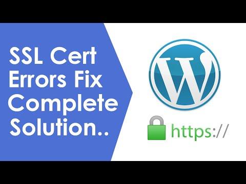 WordPress ssl certificate problem verify that the ca cert is ok