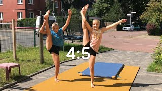 EXTREM ABC Turn Challenge Samy vs. Haley 😈 ALPHABET Gymnastics 💗 Haley's Turnwelt 💗