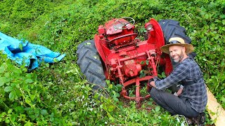 Salvaging an Abandoned Vintage Tractor - David Brown 25