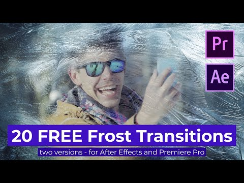 20 FREE Frost Transitions with distortion effects