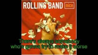 Rollins Band - Up For It (With Lyrics)