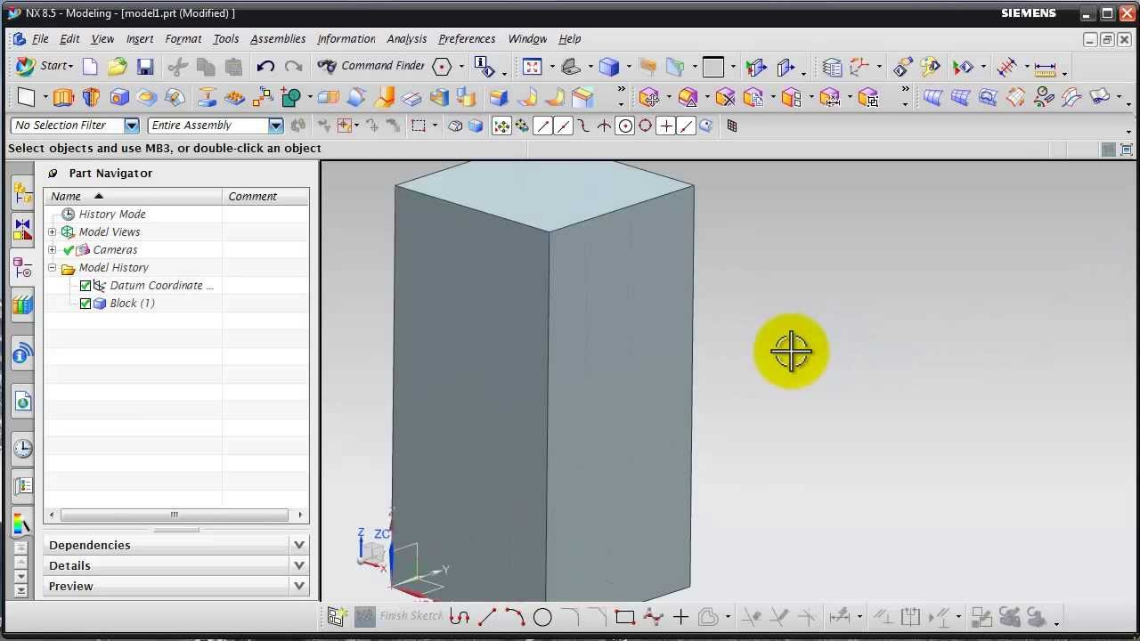 Unigraphic nx 8 modeling tutorial how to use through curve mesh.