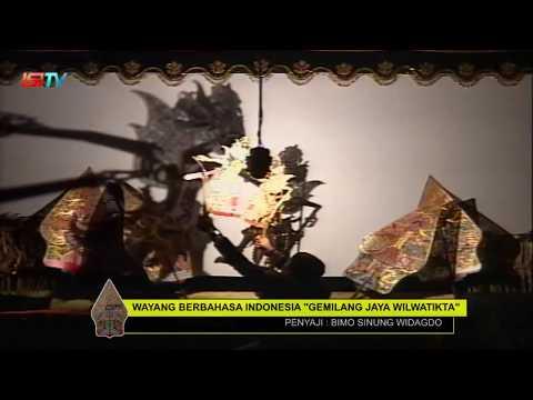 """WAYANG KULIT BERBAHASA INDONESIA """"GEMILANG JAYA WILWATIKTA"""""""