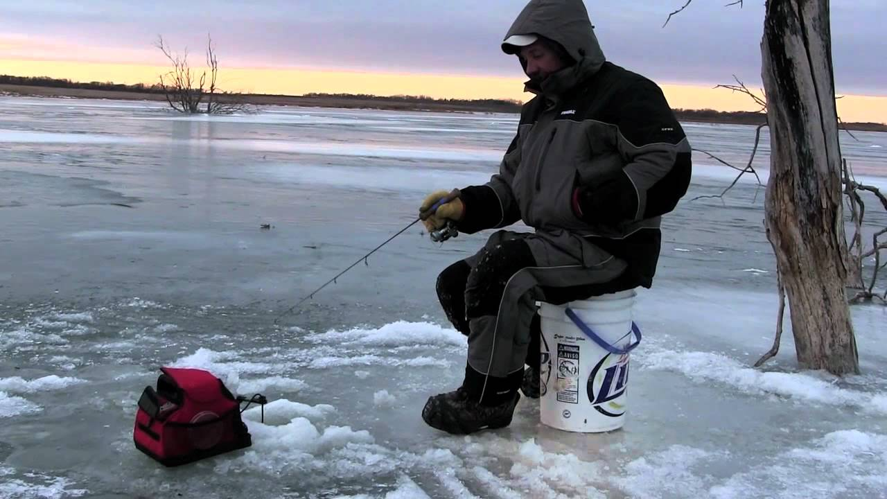 in depth outdoors on ice 0009 ice fishing perch in