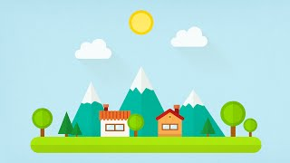 Flat Design Village - Illustrator Speedtorial