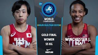 GOLD WW - 55 kg: N. IRIE (JPN) v. J. WINCHESTER (USA)