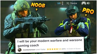 I Hired a PRO Warzone Coach on Fiverr and Pretended to be a NOOB... *SURPRISED*
