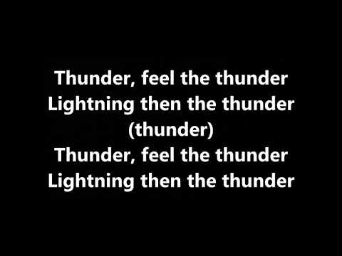 Imagine Dragons, K Flay Thunder Remix [LYRICS]