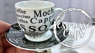 Espresso Expressions Coffee Cups and Saucers with Rack by Gibson Review