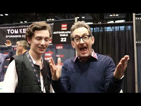 Tom Kenny (spongebob) singing the best time to wear a striped sweater with me