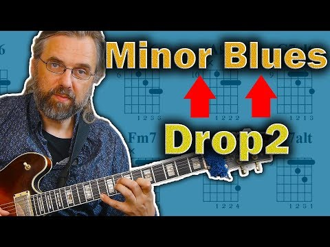 Minor Blues Comping - How To Use Drop2 Chords
