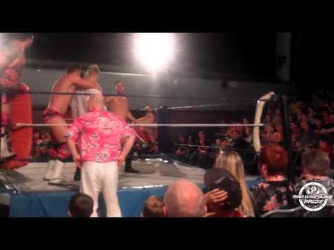 The Magnums (C) vs Josh Knott & Rob Cage. Pro Wrestling Pride. Summer 2013.