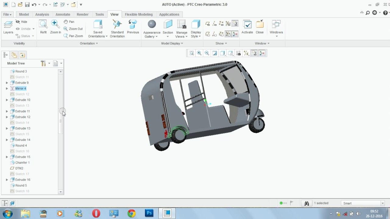 Auto modelling creo design 1 youtube - Creo projects ...