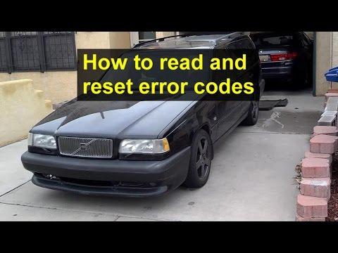 How To Read And Reset Error Codes With The Diagnostic Tool On The Volvo 850, OBD1