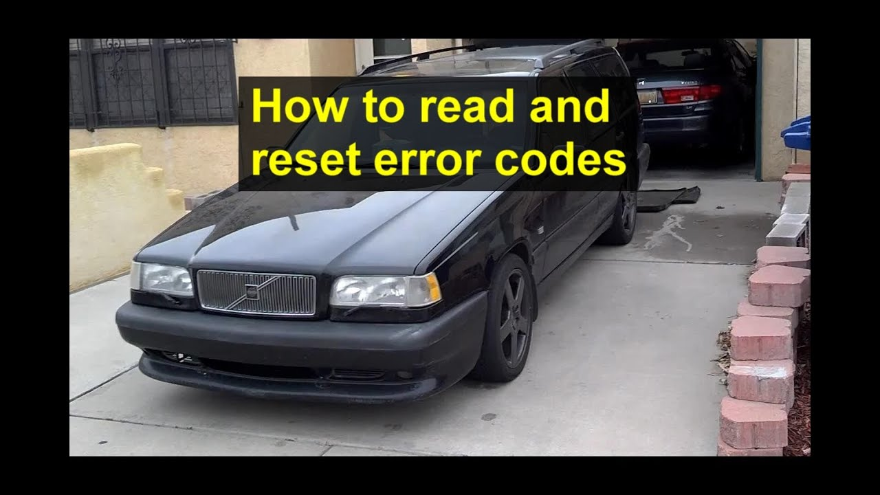 how to read and reset error codes with the diagnostic tool on the volvo 850 obd1 [ 1280 x 720 Pixel ]
