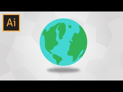 How To Draw Planet Earth In Adobe Illustrator