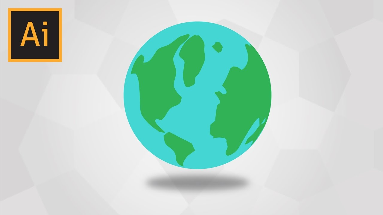 How To Draw Planet Earth In Adobe Illustrator Youtube