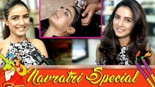 navratri special jasmin bhasin aka twinkles hair styling tips