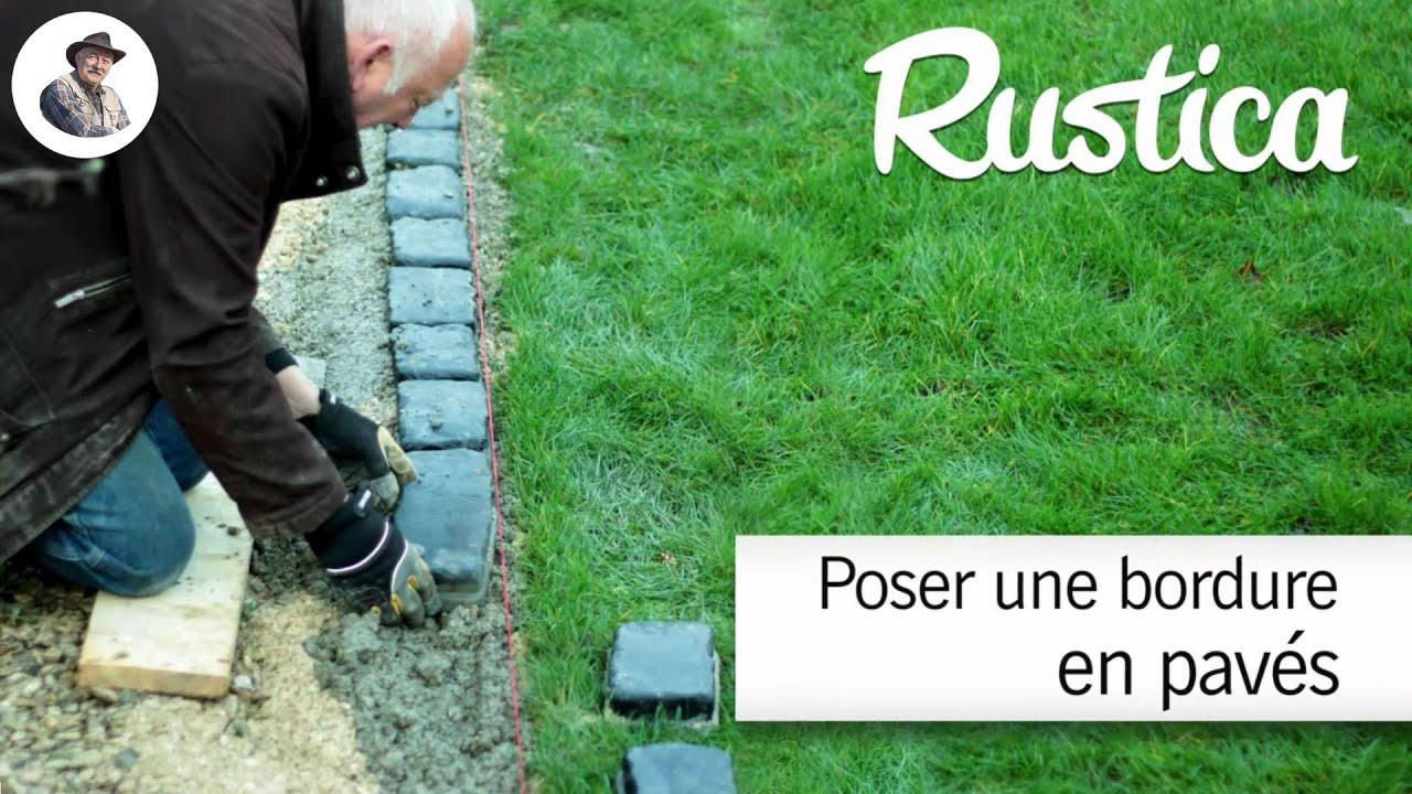 bricolage au jardin creer une bordure en paves reconstitues