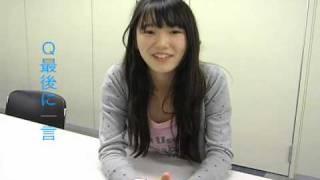 「東京俳優市場2010春」第2話から飯豊万理江さんのインタビューです。