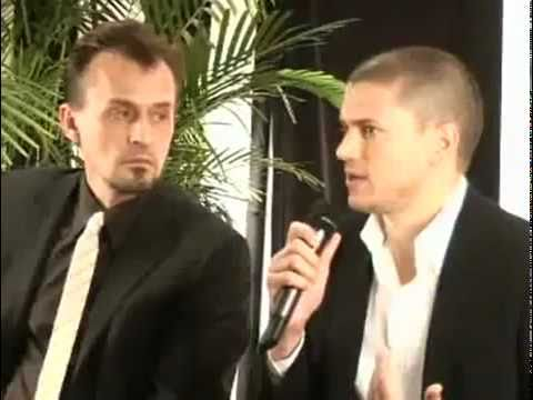 Wentworth Miller and Robbert Knepper in Canada