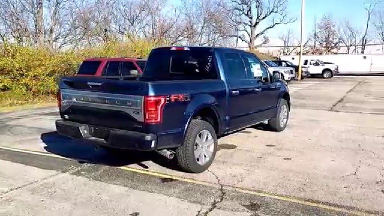 Blue Jeans 2016 F-150 SuperCrew 4x4 Platinum 5.0L V8 Short Bed - YouTube
