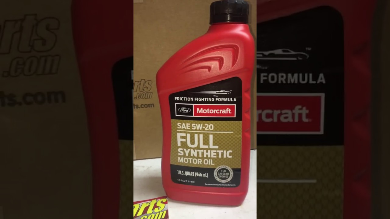 Ford motorcraft sae 5w20 full synthetic motor oil youtube for What is synthetic motor oil made out of