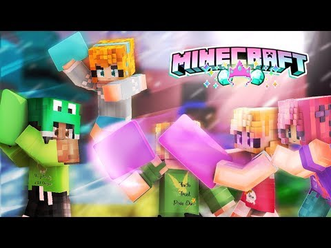 Disney Princess Slumber Party -  Minecraft Mini game - Pillow Fight