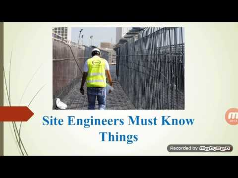 Civil site engineer common and basic knowledge .