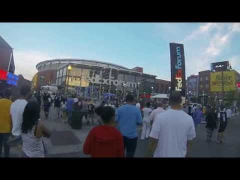 Grizzlies vs Warriors Game 4 PreGame Beale Street and FedEx Forum