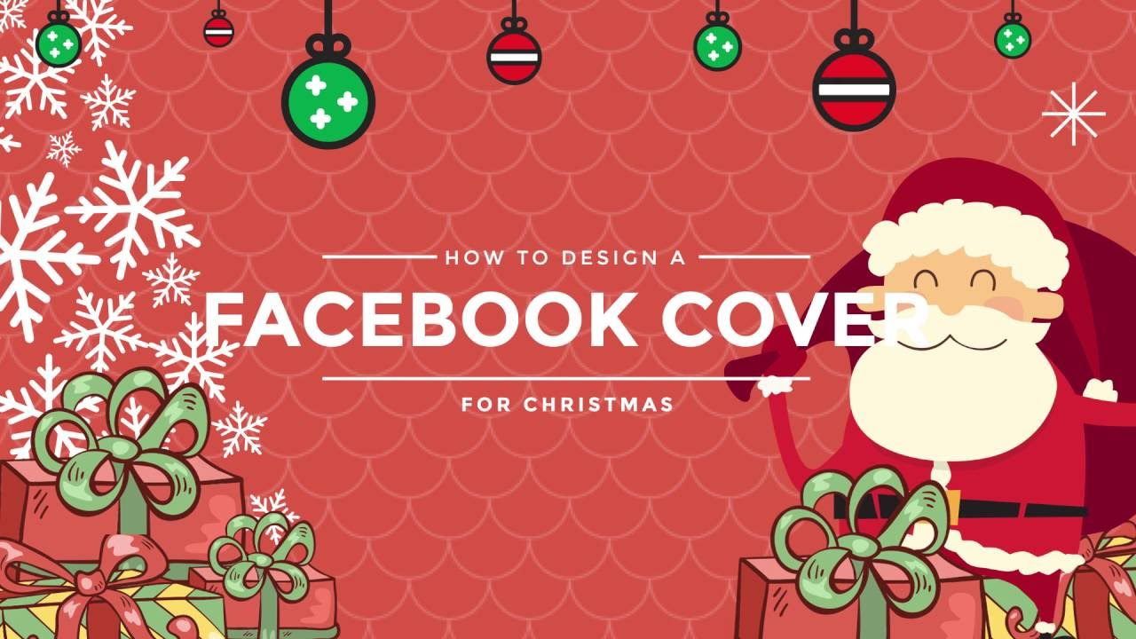 How to Design a Christmas Facebook Cover for Christmas? - YouTube