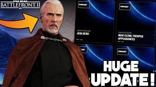 HUGE NEWS UPDATE! All Count Dooku Details, Roadmap Changes and Hero Fixes! Star Wars Battlefront 2