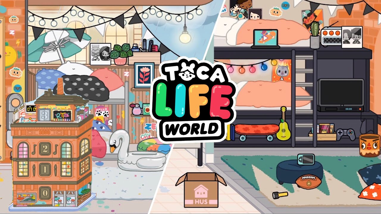 2 Rooms Makeover (boy/girl) - Toca Life - YouTube