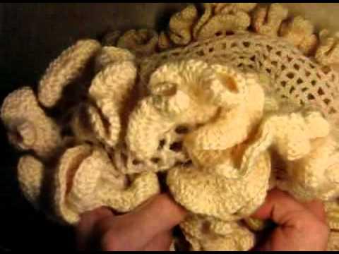 0 Как связать шарф с воланами,