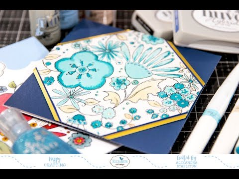 Making a feature of background stamps - Sunday Stamping with Elizabeth Craft Design Video Tutorial