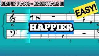 Download lagu Simply Piano| Happier |Essentials III |Piano Tutorial