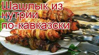 Рецепты из нутрии - как приготовить нутрию пошаговый рецепт - Шашлык из нутрии по-кавказски