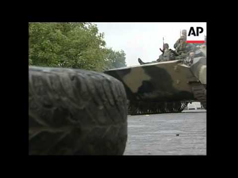 WRAP Russian troops at checkpoints at Gori, Igoeti ADDS Tbilisi reax