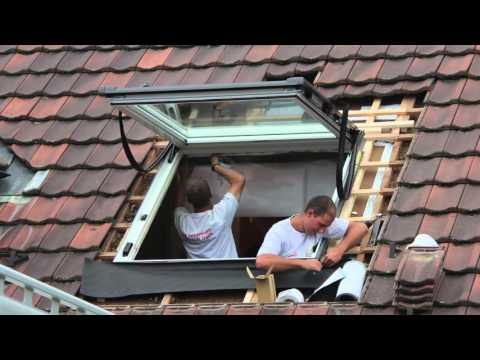 dachfenster einbau youtube. Black Bedroom Furniture Sets. Home Design Ideas