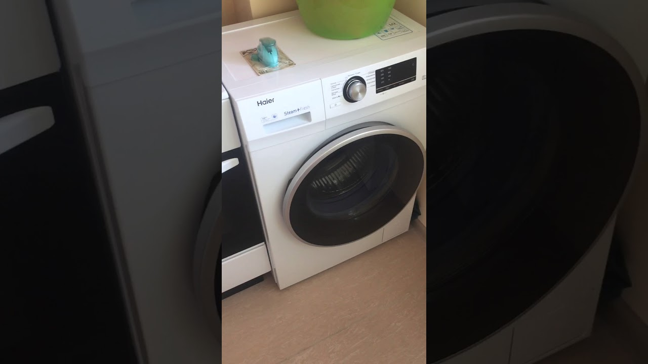 Как включить звук на стиральной машинке Haier hw60-1029a ...