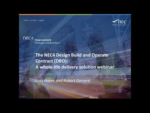NEC4 DBO Contract: a whole-life delivery solution webinar
