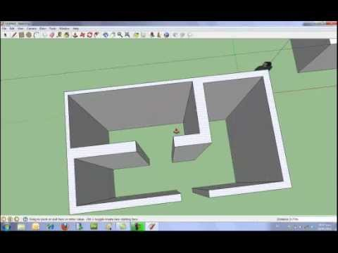 Introducci n b sica a google sketchup youtube for App para crear casas 3d