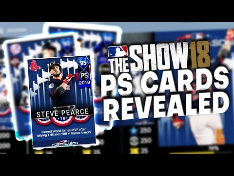 Every POSTSEASON Program Cards REVEALED! MLB The Show 18 Diamond Dynasty