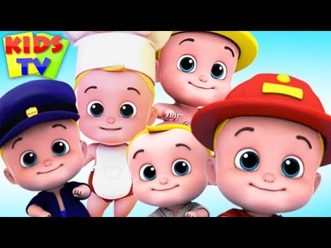 Five Little Babies Jumping on the Bed + More Kids Songs & Nursery Rhymes