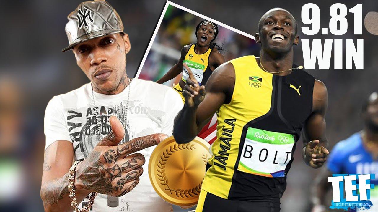 Vybz Kartel Reps Usain Bolt